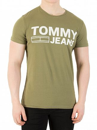 Tommy Jeans Deep Lichen Slim Fit Graphic T-Shirt