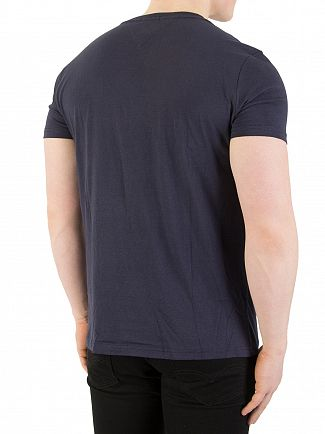 Tommy Jeans Black Navy Iris Vertical T-Shirt