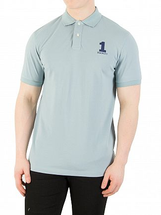 Hackett London Blue Coral New Classic Polo Shirt