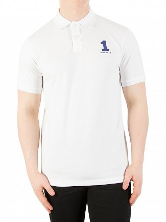 Hackett London White New Classic Polo Shirt