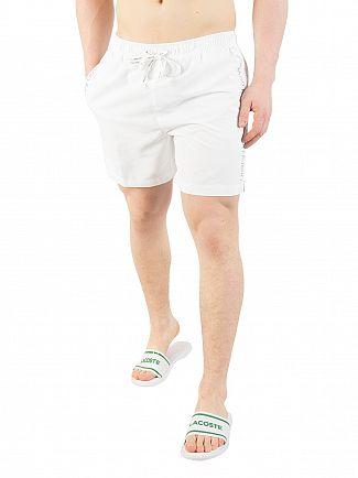 Calvin Klein White Drawstring Logo Swimshorts