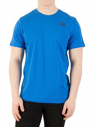 The North Face Bomber Blue Red Box T-Shirt