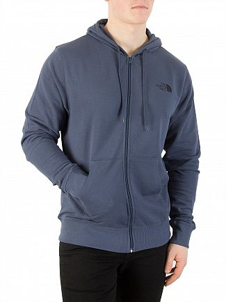 The North Face Blue Wing Teal Logo Zip Hoodie
