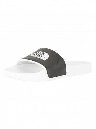 The North Face White/Black Basic Camp Sliders
