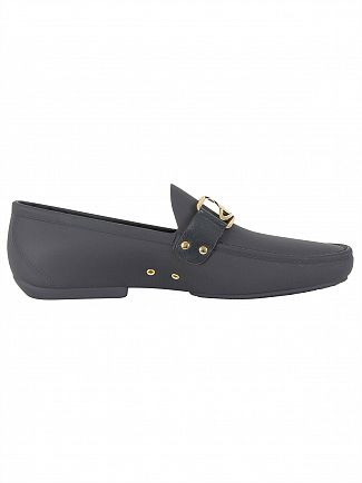 Vivienne Westwood Navy Blue Moccassin Frame Orb Shoes