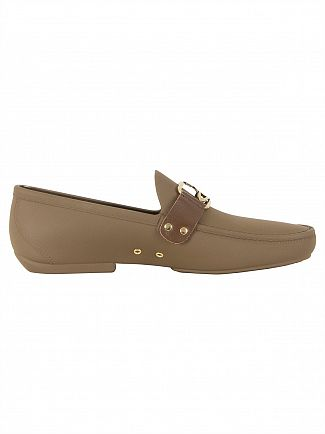 Vivienne Westwood Sepia Brown Moccassin Frame Orb Shoes
