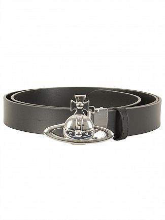 Vivienne Westwood Black Orb Buckle Belt