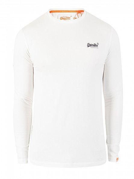 Superdry Optic Longsleeved Orange Label Vintage Logo T-Shirt
