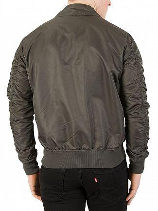 Alpha Industries Grey/Black CWU LW PM Bomber Jacket