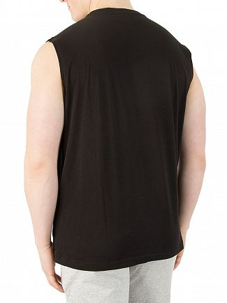EA7 Black Graphic Vest