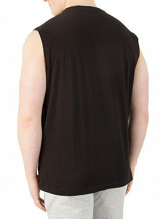 EA7 Black Graphic Vest