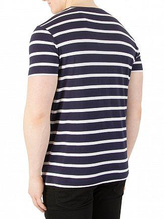 Gant Evening Blue Breton Stripe T-Shirt