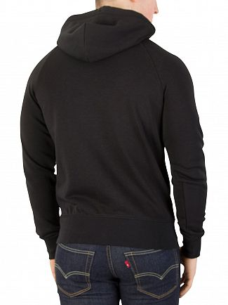 Gant Black Original Full Zip Logo Hoodie