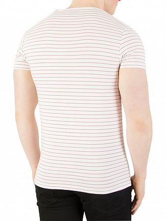 Scotch & Soda White Classic Striped T-Shirt