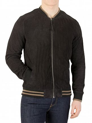 Scotch & Soda Night Suede Bomber Jacket