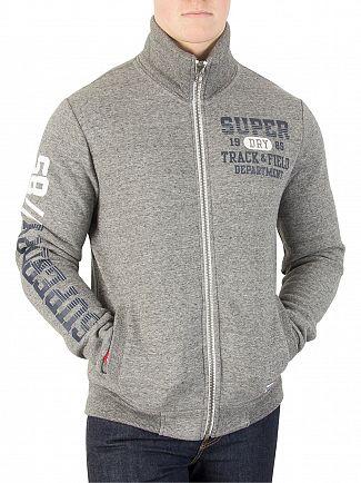 Superdry Portland Grey Grit Trackster Track Jacket