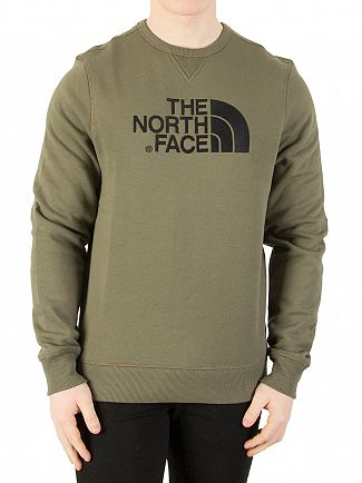 The North Face New Taupe Green Drew Peak Sweatshirt