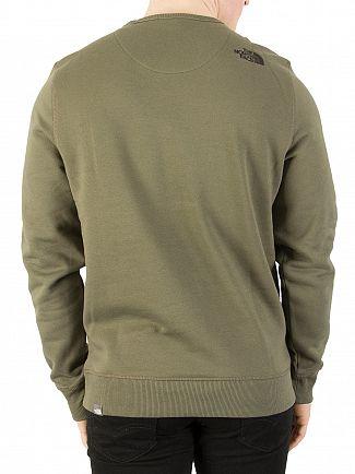 The North Face New Taupe Green Drew Peak Sweatshirt