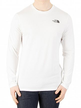 The North Face White Longsleeved Easy T-Shirt