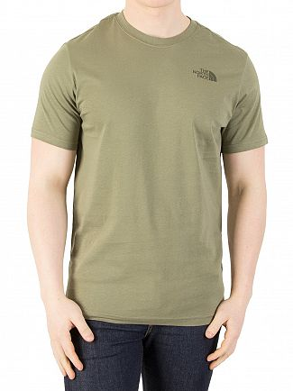The North Face Deep Lichen Green Red Box T-Shirt