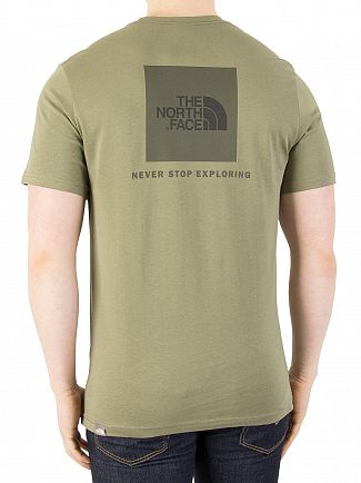 The North Face Deep Lichen Green Red Box T-Shirt