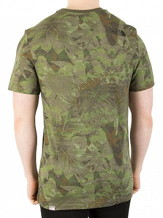 The North Face Green Camo Simple Dome T-Shirt