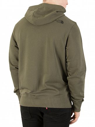 The North Face Taupe Green Zip Hoodie