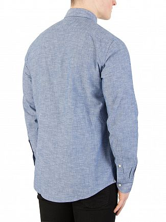 Tommy Hilfiger Indigo Flag Patchwork Shirt