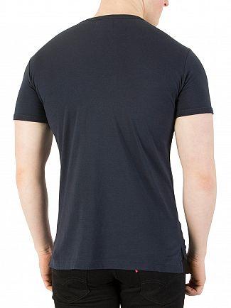Vivienne Westwood Navy Heart World Print T-Shirt