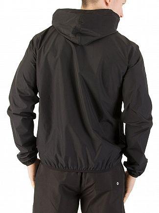 Calvin Klein Black Beach Windbreaker Zip Jacket