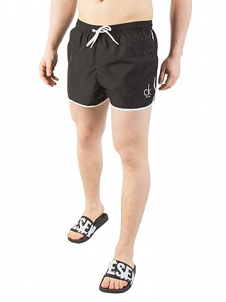 Calvin Klein Black Short Runner Swimshorts