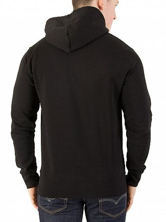 Carhartt WIP Black/White College Pullover Hoodie