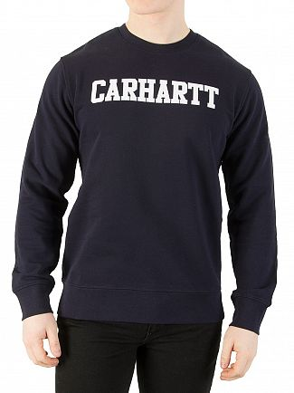 Carhartt WIP Dark Navy/White College Sweatshirt