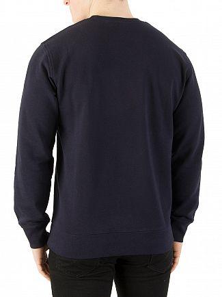 Carhartt WIP Dark Navy/White College Sweatshirt