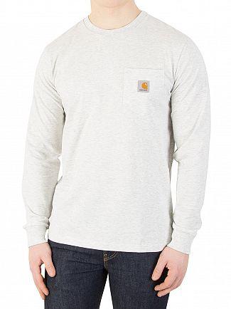 Carhartt WIP Ash Heather Longsleeved Pocket T-Shirt