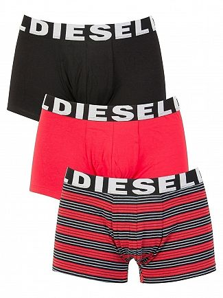 Diesel Stripe/Red/Black 3 Pack Shawn Seasonal Edition Trunks