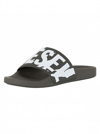 Diesel Black/White SA Maral Sliders