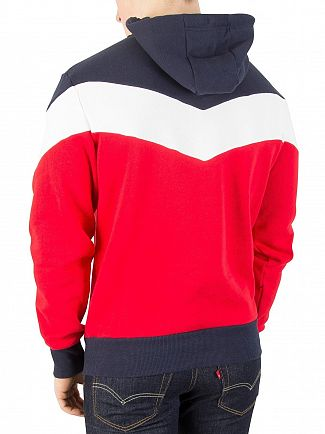 Ellesse True Red/Optic White/Dress Blue Caserta Pullover Hoodie