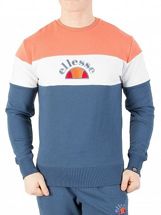 Ellesse Ensign Blue/Optic White Oriveto Sweatshirt