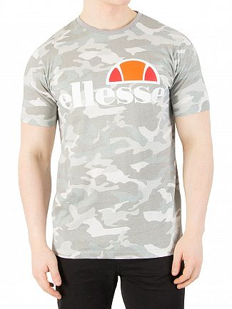 Ellesse Grey Camo Prado Graphic T-Shirt