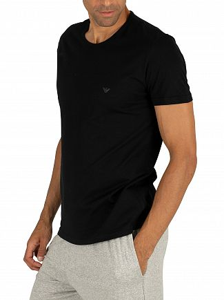Emporio Armani Black 2 Pack Pure Cotton T-Shirt
