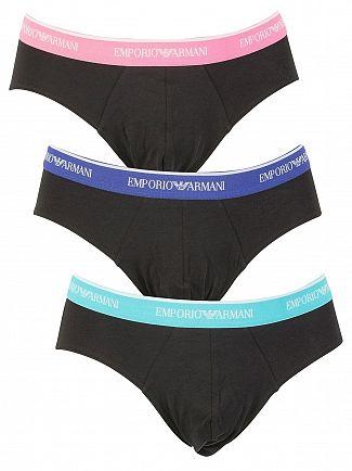 Emporio Armani Black 3 Pack Briefs