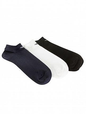 Emporio Armani Black/White/Navy 3 Pack Cotton Inside Socks