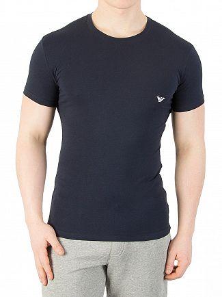 Emporio Armani Marine Crew Logo T-Shirt