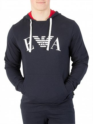 Emporio Armani Marine Graphic Pullover Hoodie