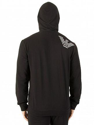 Emporio Armani Black Logo Zip Hoodie