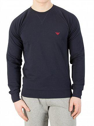 Emporio Armani Navy Longsleeved Sweatshirt