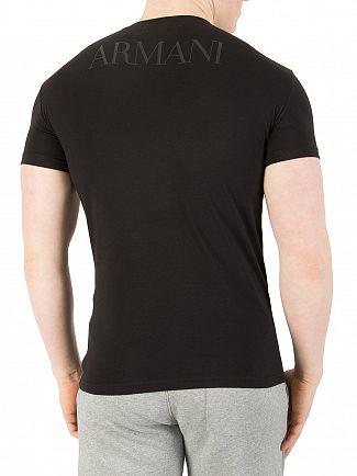 Emporio Armani Black Mega Logo T-Shirt