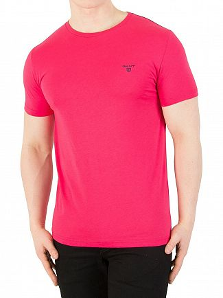 Gant Rose Red Contrast Logo T-Shirt