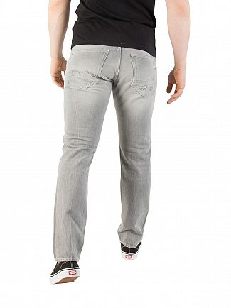G-Star Racha Grey Denim 3301 Tapered Ripped Jeans